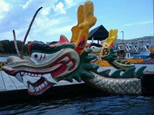 """When they call them """"dragon boats,"""" they mean it!"""