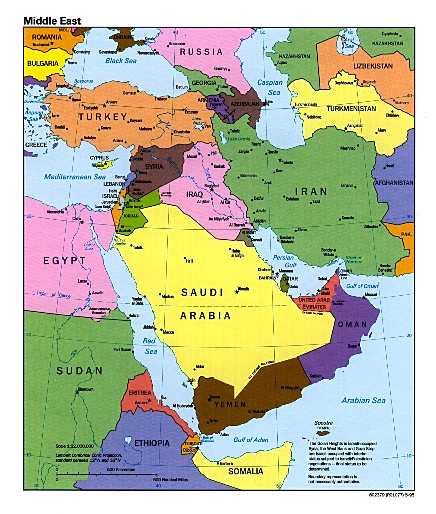 Middle East Map Folbot In the Fold
