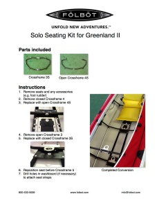 Solo Seating Kit Instructions